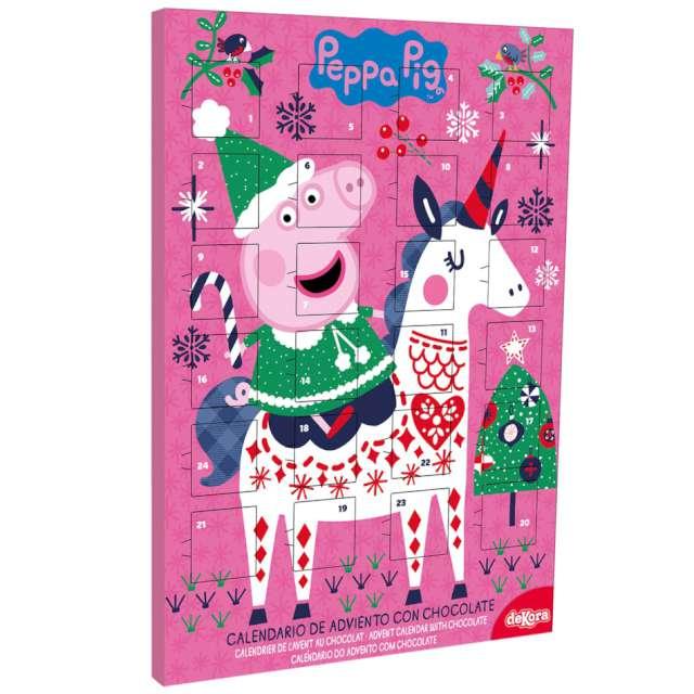 """Kalendarz adwentowy """"Peppa z czekoladkami"""", różowy, Dekora"""
