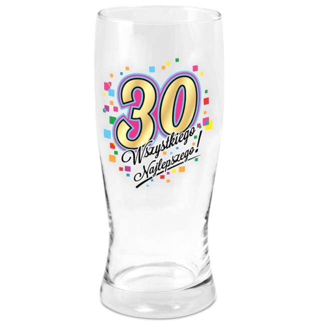 Szklanka do piwa 30 urodziny z nadrukiem BGtech 500 ml