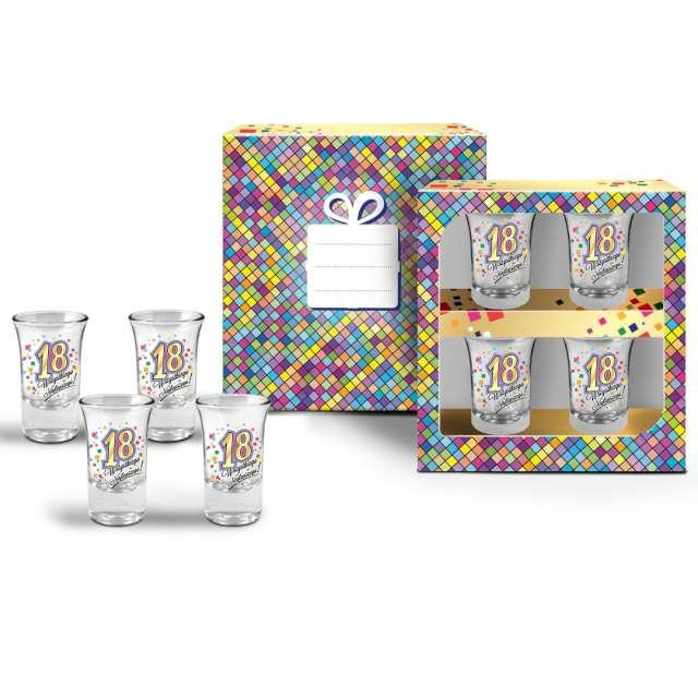 Kieliszki do wódki 18 Urodziny szklane BGtech 35 ml 4 szt