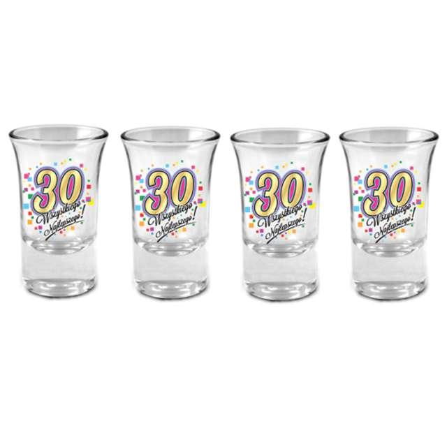 Kieliszki do wódki 30 Urodziny szklane BGtech 35 ml 4 szt