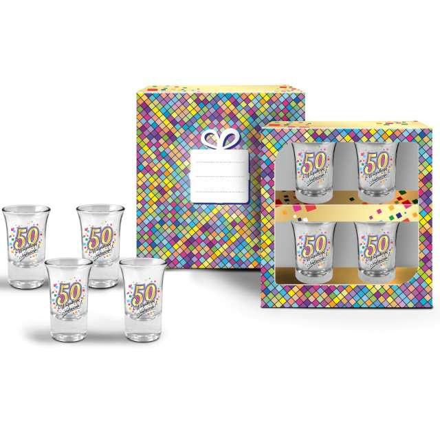 Kieliszki do wódki 50 Urodziny szklane BGtech 35 ml 4 szt