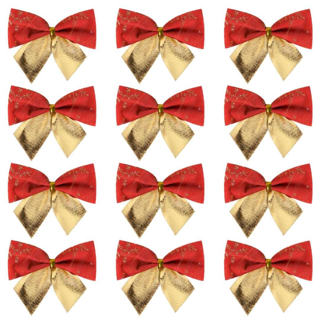 """Kokardy """"Classic ze złotym nadrukiem"""", czerwono-złote, Arpex, 12 szt"""