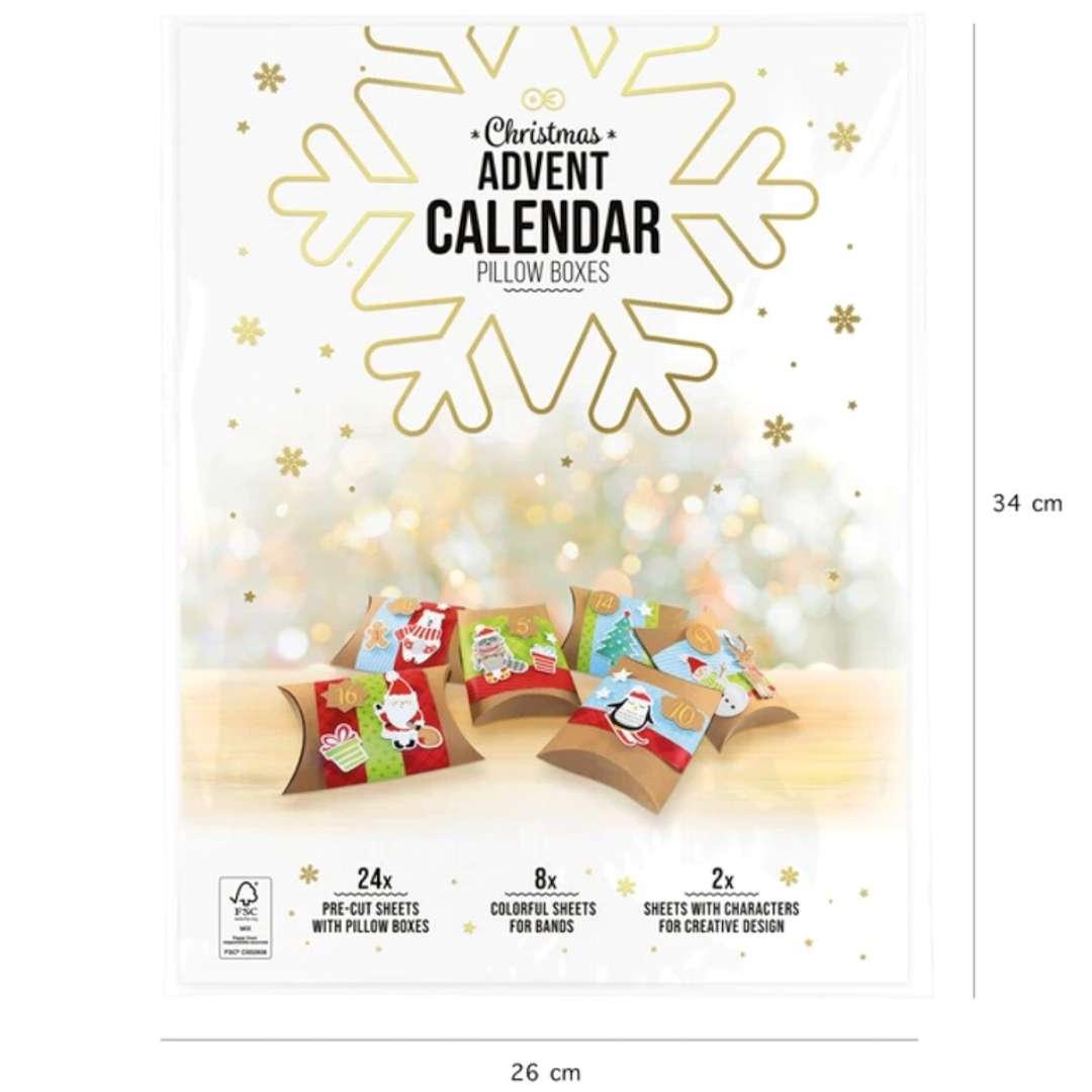 Kalendarz adwentowy DIY Świąteczne prezenciki PartyPal 1 kompl.