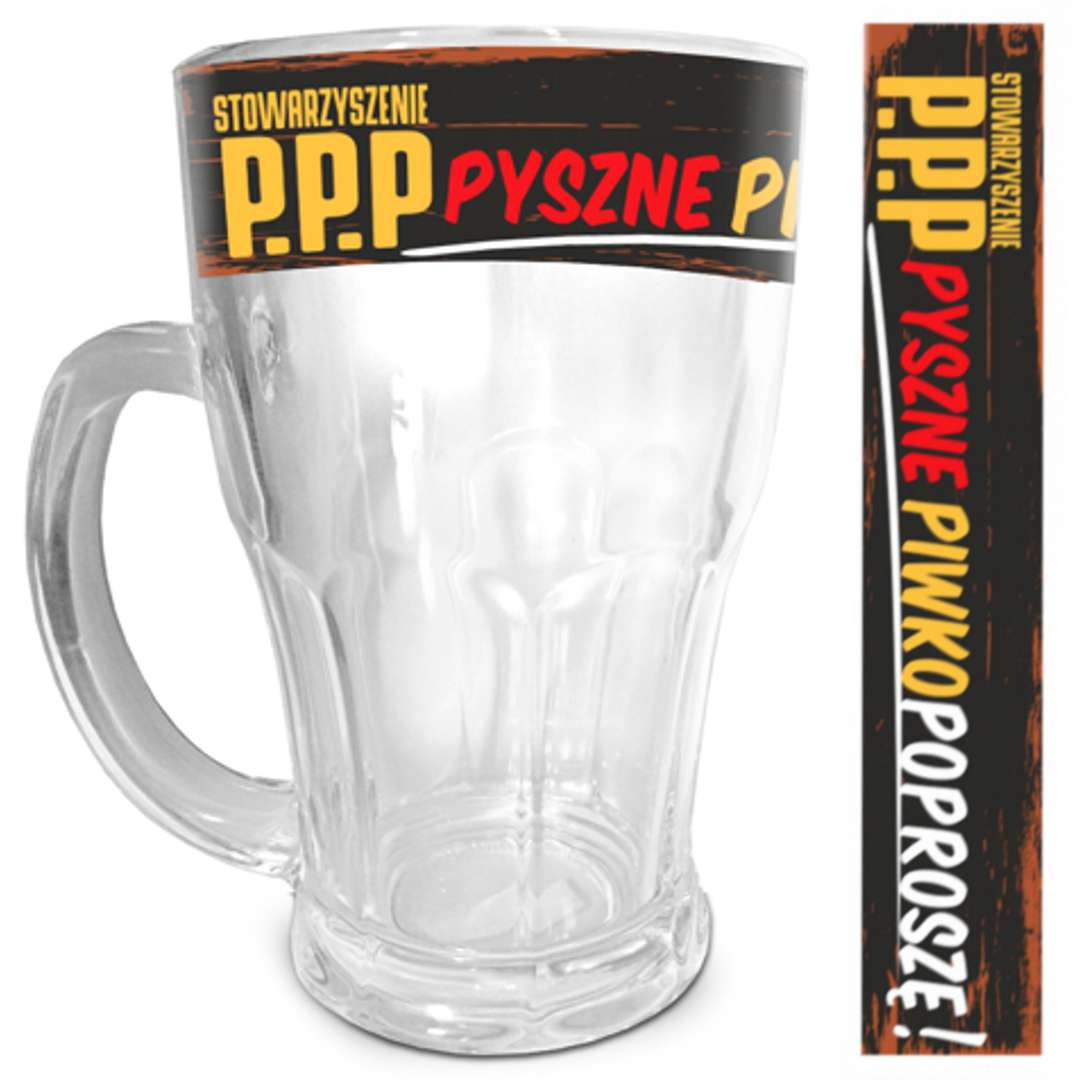 Kufel Piwko poproszę szklany BGtech 480 ml