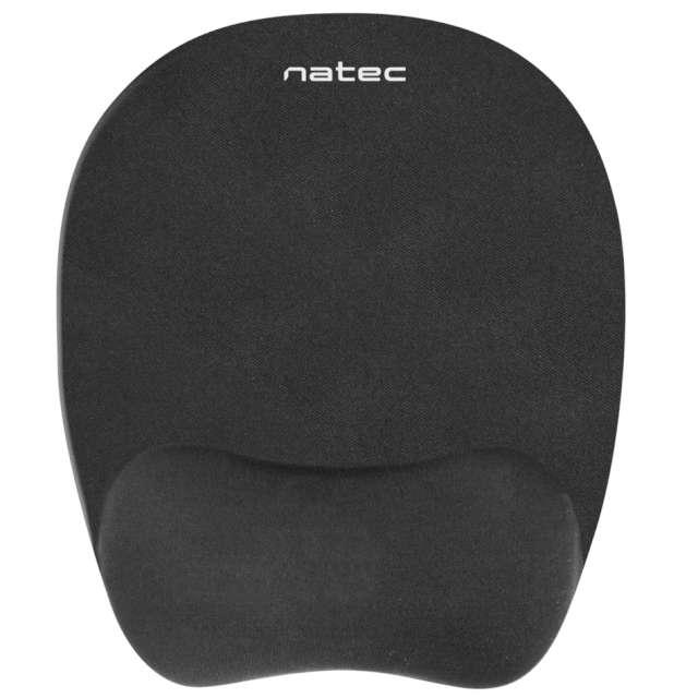 """Podkładka pod mysz """"Żelowa, ergonomiczna"""", czarna, NATEC"""