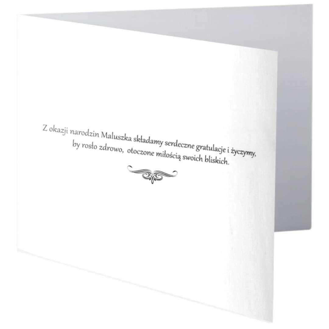 Kartka okolicznościowa Witaj na świecie Maleństwo - błękit Paw 154 x 154 cm