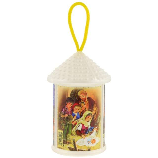 """Lampion """"Adwentowy - zmieniający kolor"""", biały, okrągły, Godan, 20 cm"""