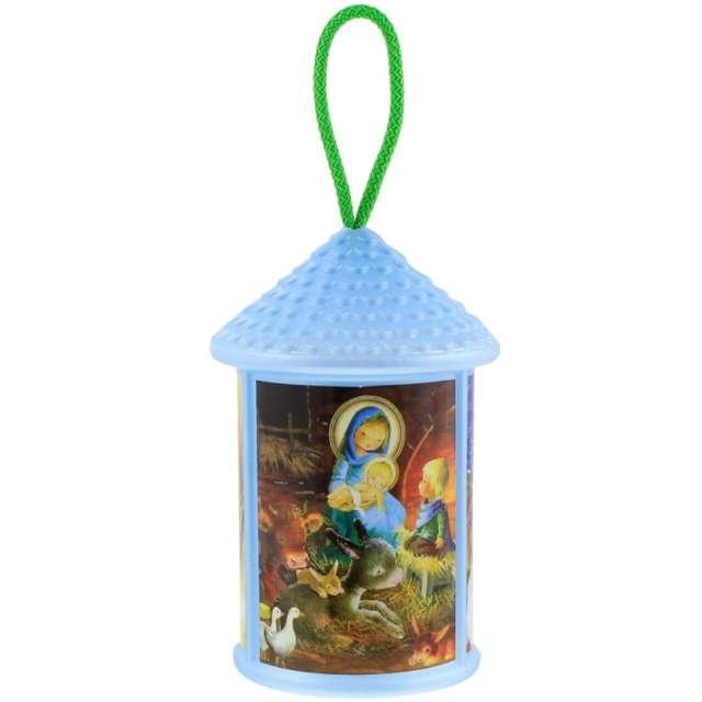"""Lampion """"Adwentowy - zmieniający kolor"""", niebieski, okrągły, Godan, 20 cm"""