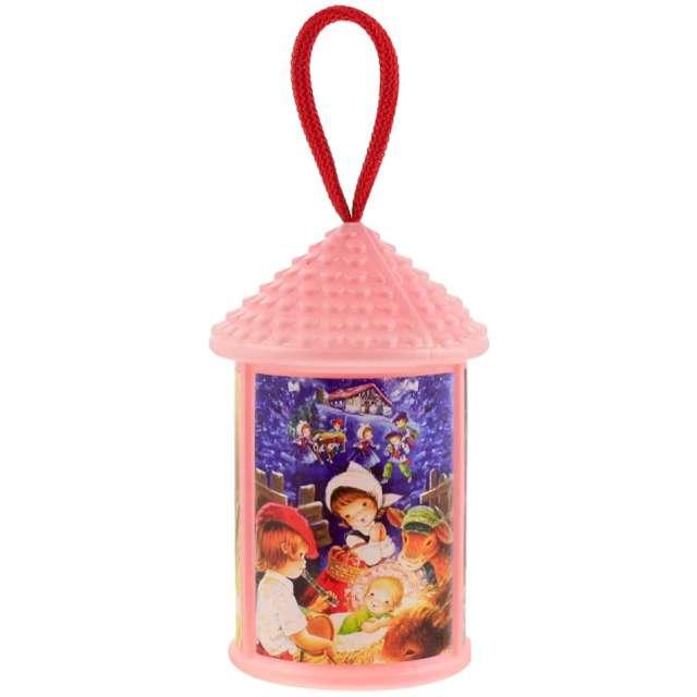 """Lampion """"Adwentowy - zmieniający kolor"""", różowy, okrągły, Godan, 20 cm"""