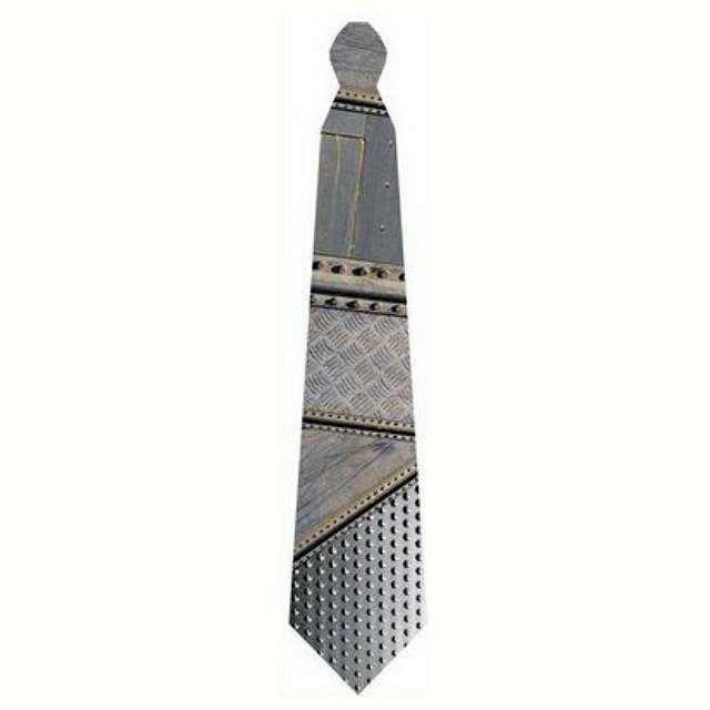 """Krawat """"Stalowa konstrukcja"""", szary, Kemiś, 42 cm"""