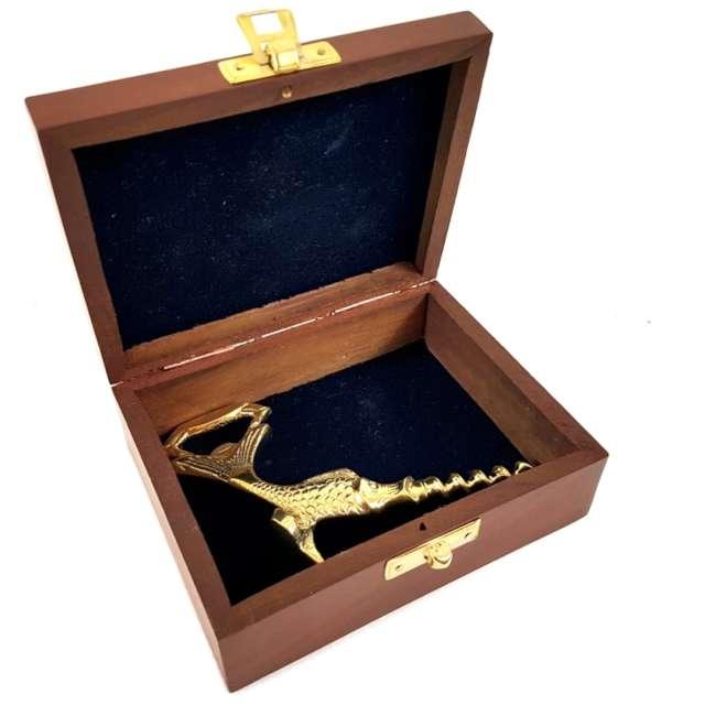 Otwieracz Ryba Piła - korkociąg złoty Kemiś