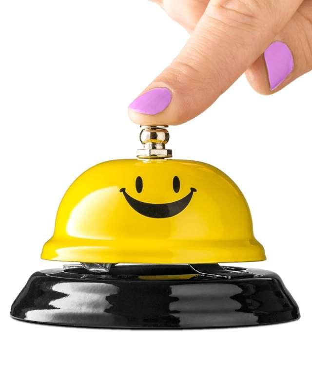 Biurkowy dzwonek Czas na uśmiech żółty GadgetMaster