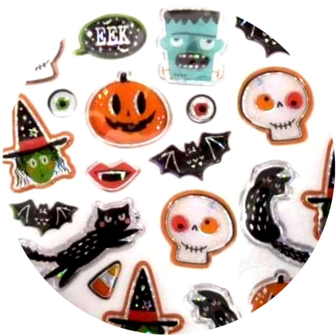 """Naklejki """"Halloween - kolorowe duchy i dynie"""", mix, Arpex"""