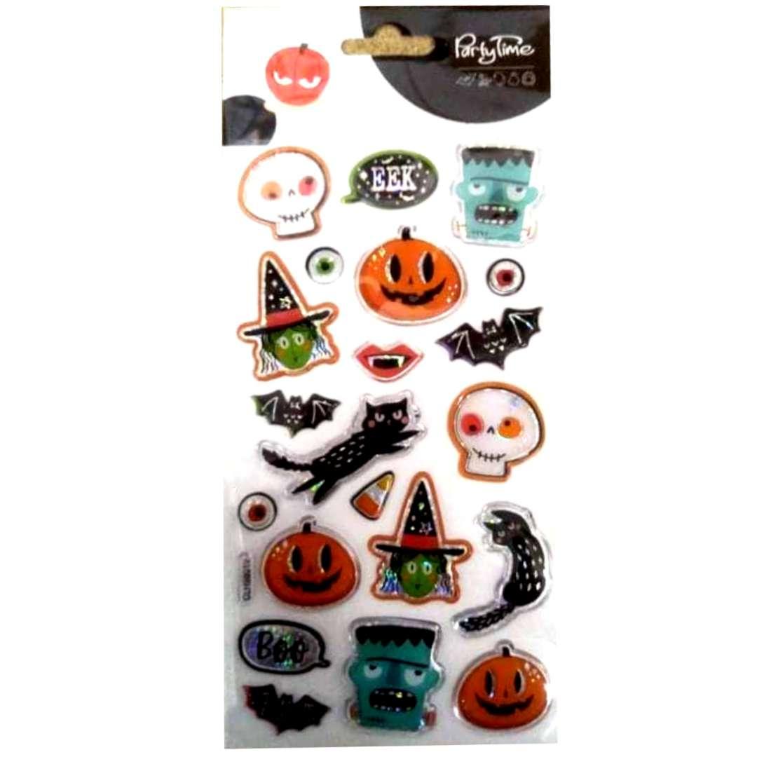 Naklejki Halloween - kolorowe duchy i dynie mix Arpex