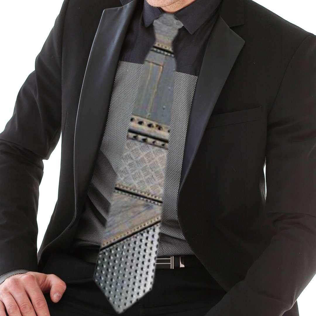 Krawat Stalowa konstrukcja szary Kemiś 42 cm