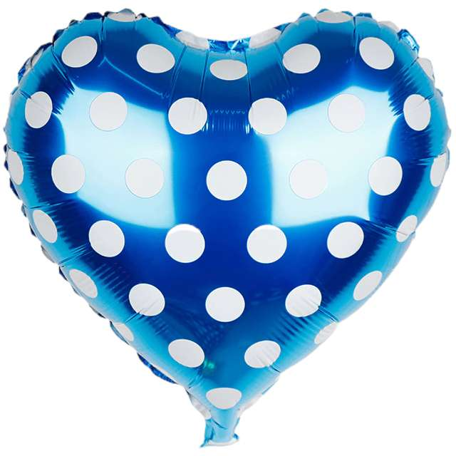 Balon foliowy Serce w kropki niebieskie Jix 18 HRT