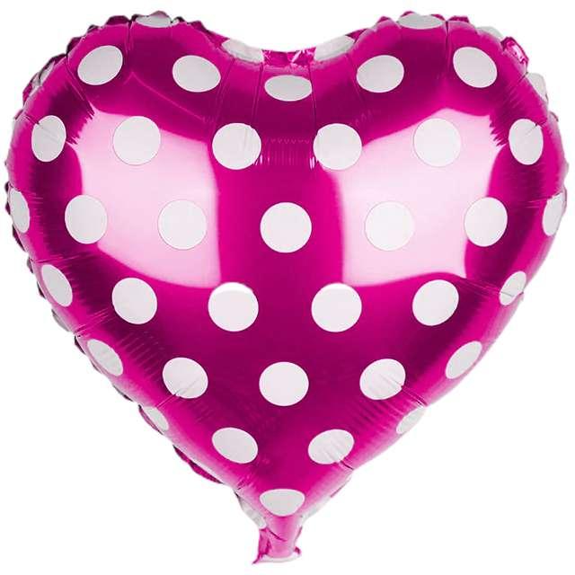 Balon foliowy Serce w kropki różowe Jix 18 HRT