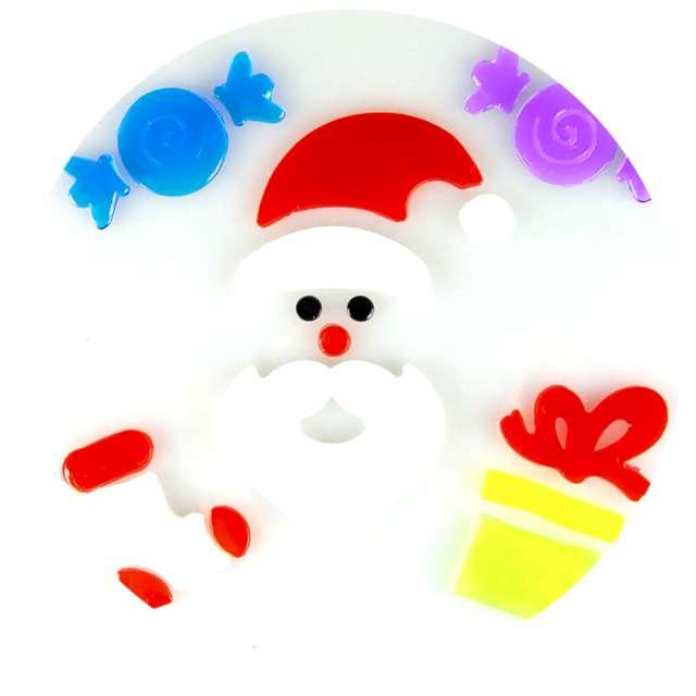 Naklejki na okno Mikołaj i prezent żelowe Aliga