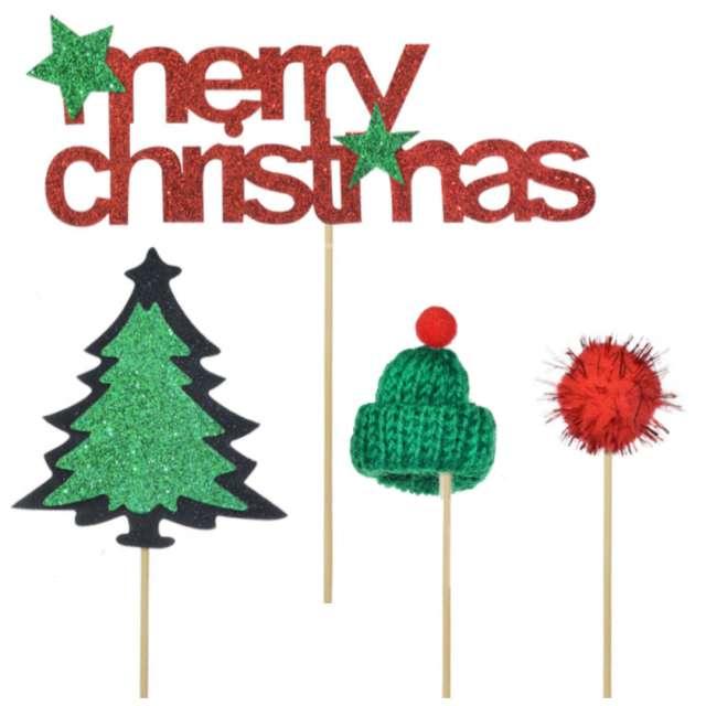 _xx_Dekoracja ciasta - Merry Christmas (4 szt.)