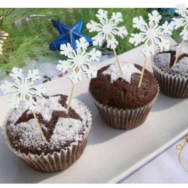 _xx_Dekoracja ciasta - śnieżynki (3 szt.)