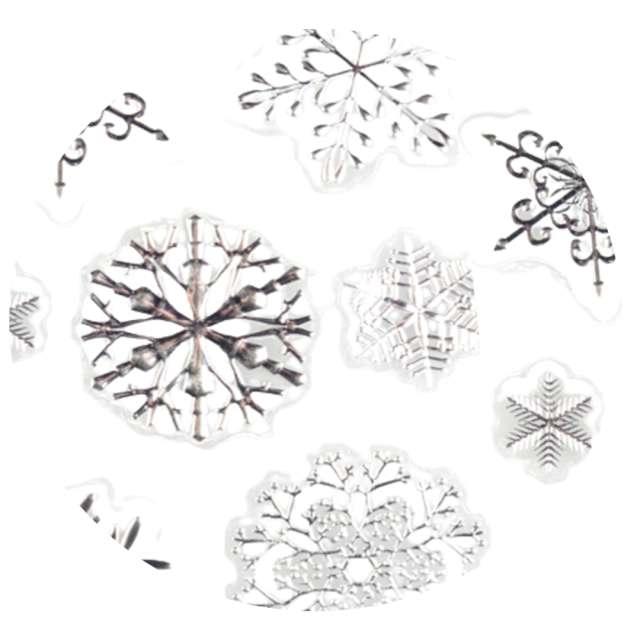 Dekoracja na okno Samoprzylepne śnieżynki srebrne Arpex 7 szt