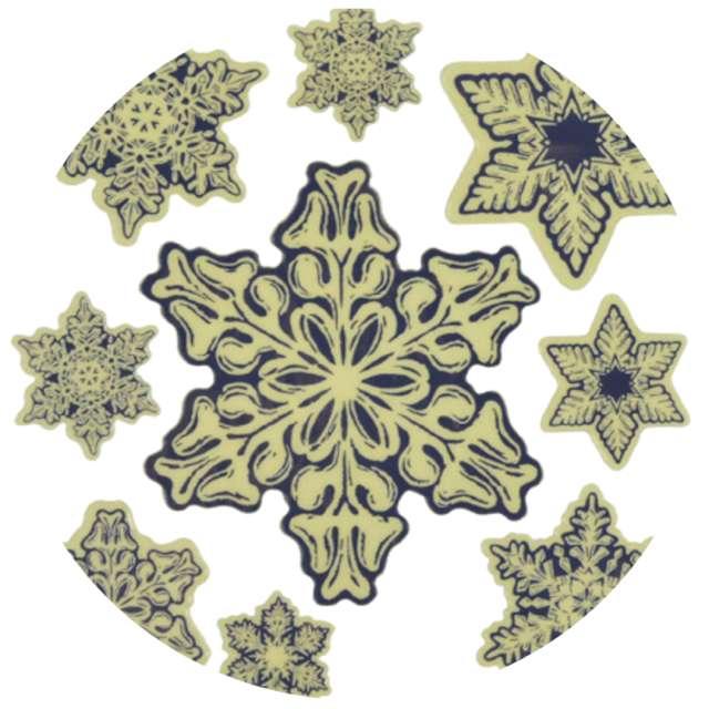 """Naklejki fluorescencyjne """"Śnieżynki"""" 1+8 szt"""", mix, Arpex, arkusz"""