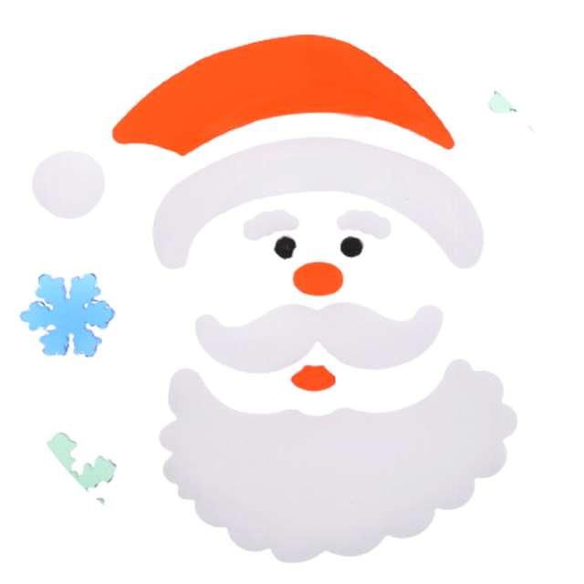 Naklejki na okno Mikołaj i śnieżynki żelowe Aliga