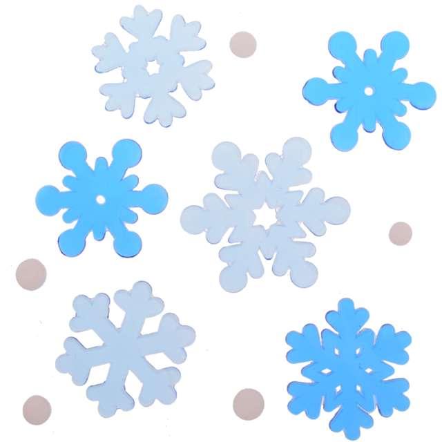 Naklejki na okno Śnieżynki mix żelowe Aliga