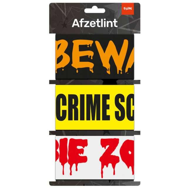 Taśma party Danger Crime Scene Zombie Folat 3 szt 5 m