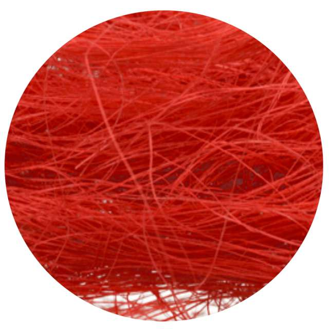 Ozdoba Sizal-sianko czerwony ARPEX 10g