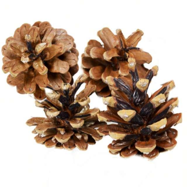 """Dekoracja """"Naturalne szyszki"""", Arpex, 6 cm, 4 szt"""