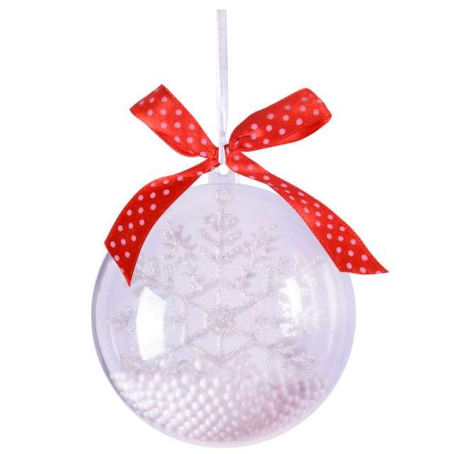 """Bombka do dekorowania """"Świąteczne elementy"""", plastikowa, Arpex, 8 cm"""