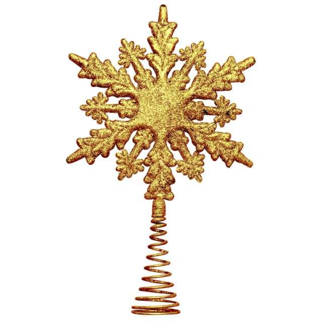 _xx_Śnieżynka choinkowa - szpic złota