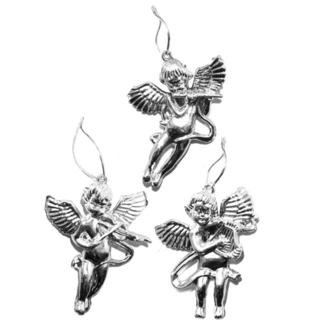 """Ozdoby choinkowe """"Srebrne aniołki"""", Arpex, 3 szt"""