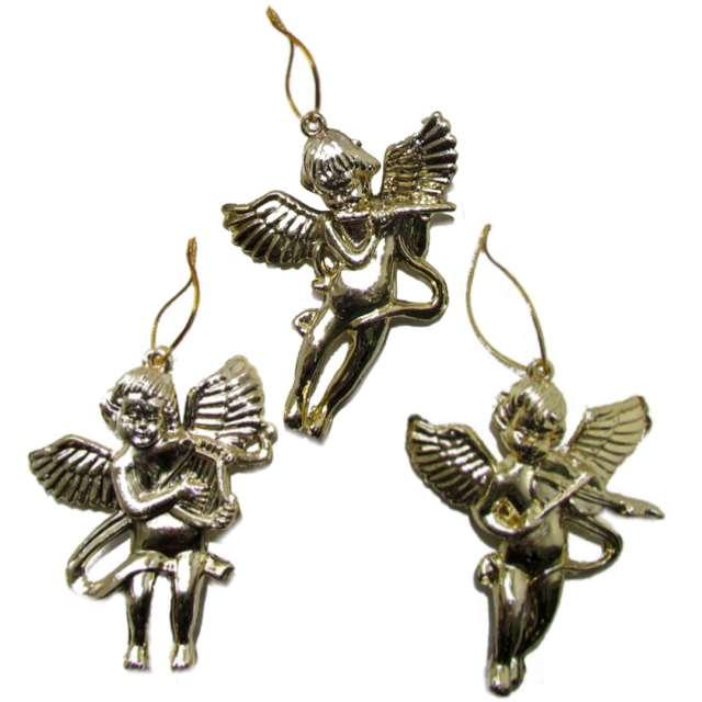 """Ozdoby choinkowe """"Złote aniołki"""", Arpex, 3 szt"""