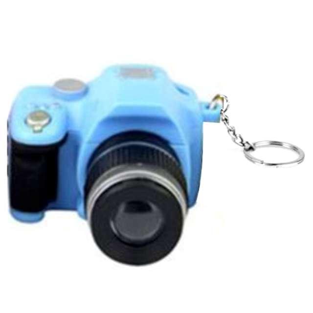 """Brelok do kluczy """"Aparat foto"""", niebieski, OEM"""