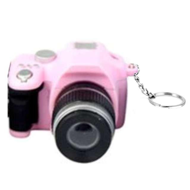 Brelok do kluczy Aparat foto różowy OEM