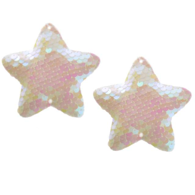 Ozdoby choinkowe Cekinowe gwiazdki perłowe Arpex 8 cm 2 szt