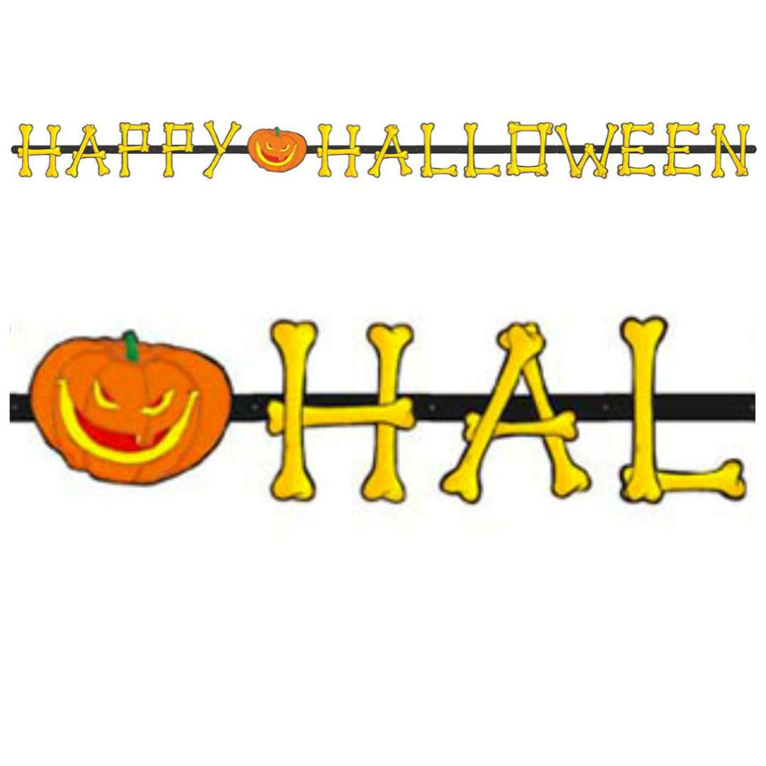 "Girlanda ""Happy Halloween"", żółta, Widmann, 200 cm"