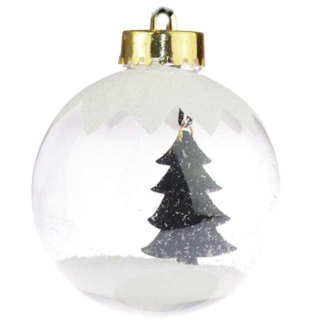 """Bombka """"Śnieżna choinka, transparentna, 7,5cm, Arpex"""