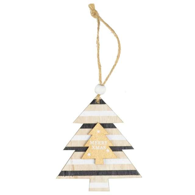 Ozdoba choinkowa Choinka - Merry Christmas drewniana Arpex 10 cm