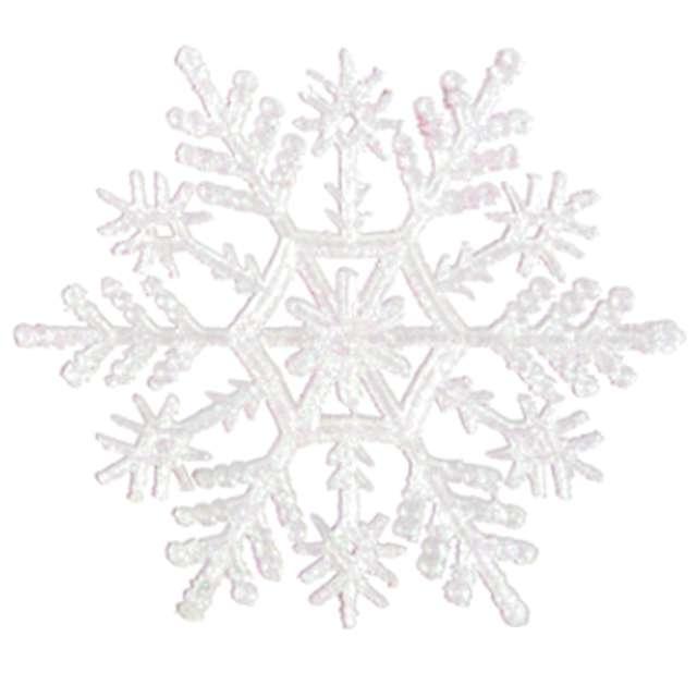 Ozdoba choinkowa Brokatowa śnieżynka wz.1 Arpex 10 cm 6 szt