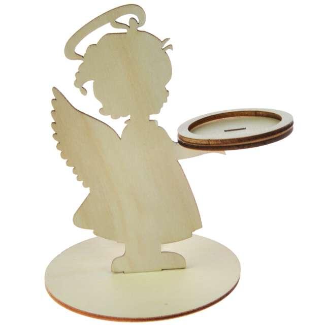 _xx_Świecznik drewniany - aniołek