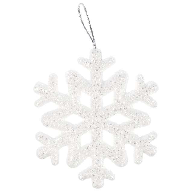 _xx_Zestaw lśniących śnieżynek 9.5 cm (7 szt.)