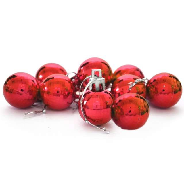 """Bombki """"Disco"""", czerwone, Arpex, 3 cm, 9 szt"""