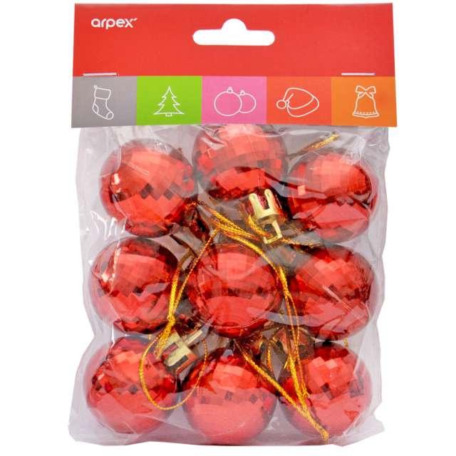 Bombki Disco czerwone Arpex 3 cm 9 szt
