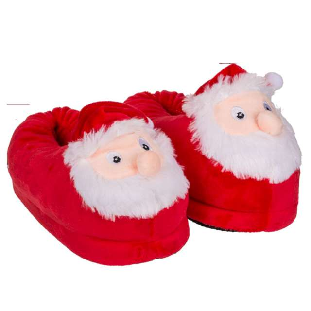 """Kapcie """"Świętego Mikołaja"""", czerwone, rozm. 35-36, OoTB"""