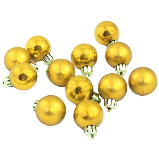 Bombki Nietłukące złote Arpex 3 cm 12 szt