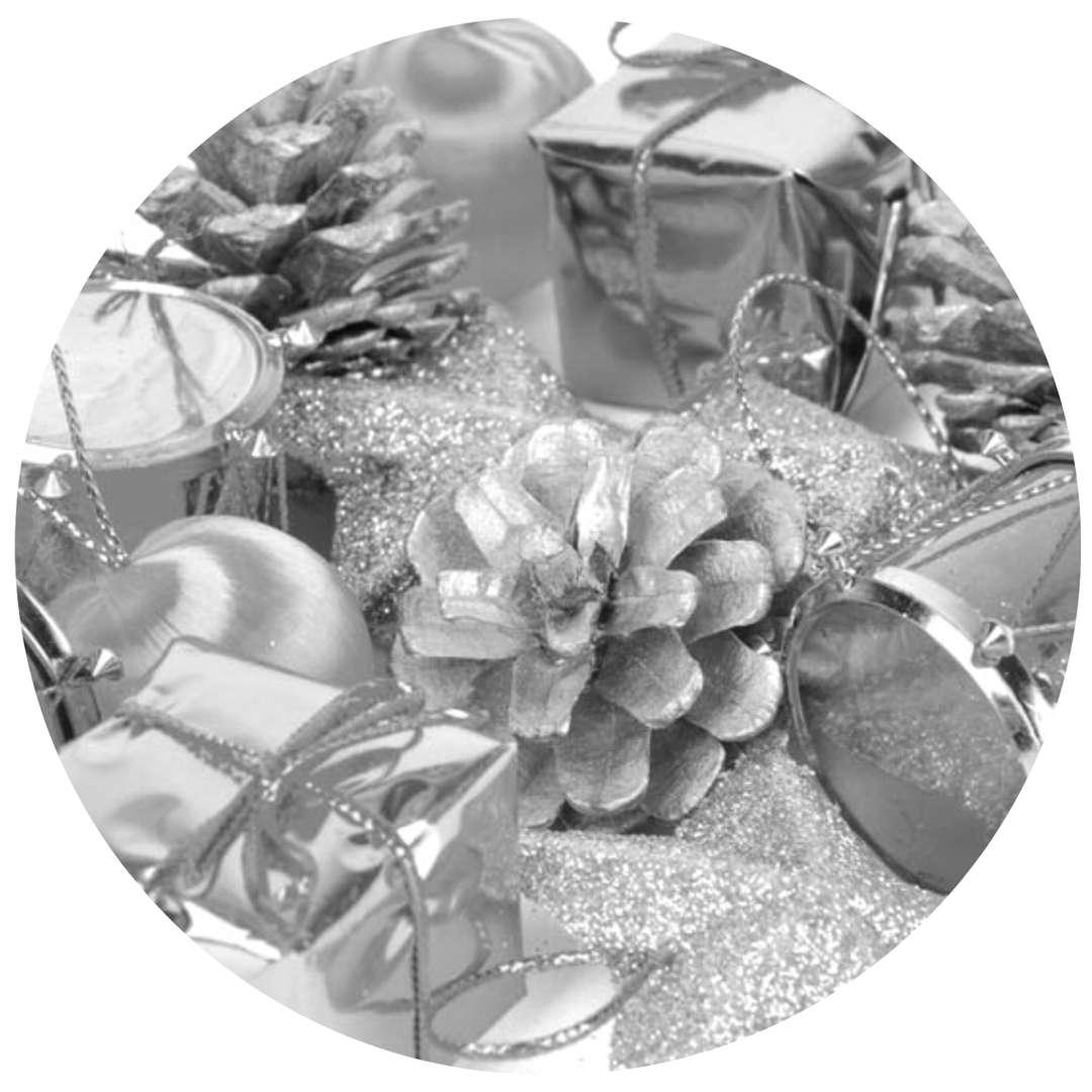"""Ozdoby choinkowe """"Świąteczny Mix 16"""", srebrny, Arpex"""