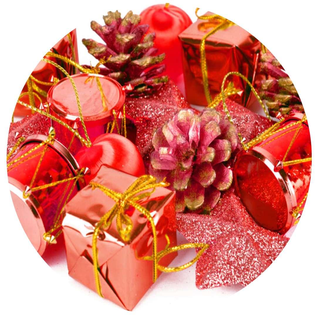 """Ozdoby choinkowe """"Świąteczny Mix 16"""", czerwony, Arpex"""